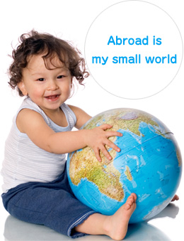 Abroad is my small world